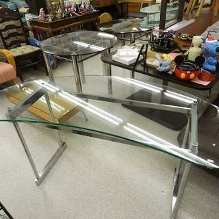 訳あり ガラステーブル ビーンズ型 高さ75cm☆ Pay…
