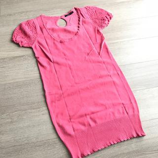 イング INGNI ピンク ニット ワンピース セーター