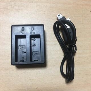 アクションカメラ バッテリー 充電器 デュアル Sjcam SJ...