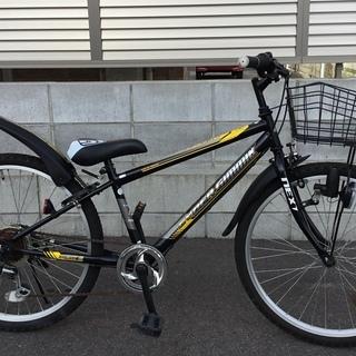 <美品車>24インチ・ジュニア自転車 サイバーギミック 外装6段変速