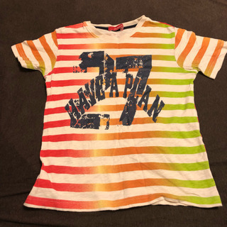 Tシャツ 140 カラフルボーダー