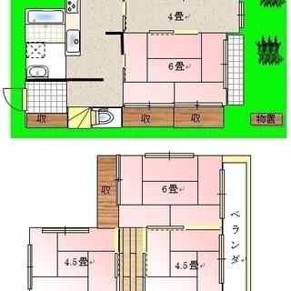 川越今福5DK 80平米で家賃5万円からペットと家庭菜園を楽しめる...
