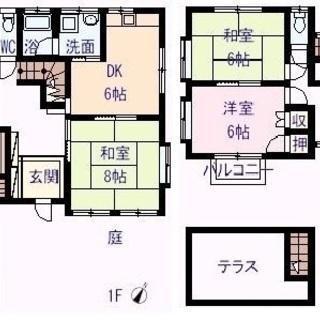 ☆貸家☆広々庭付き一戸建て・6DK・ペット可・P2台可