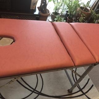 折りたたみ式エステベット (欲しい方には高さ調整可能椅子もお譲り...
