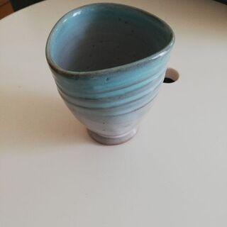 新品 益子焼のカップ