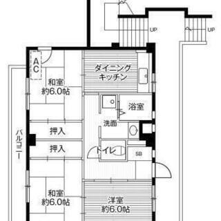 初期費用¥66400~ 保証人、保証会社不用 フリーレントあり