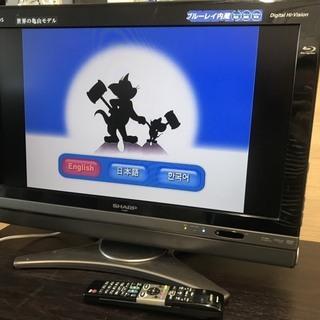 シャープ テレビ 26インチ DVD内臓