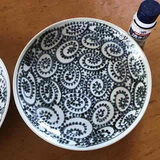 大きな和皿・蛸唐草4枚