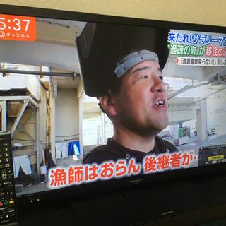 SHARP AQUOS 32型テレビ 外付けHDD 2TB付き