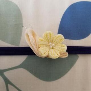 帯留め カタツムリ黄色