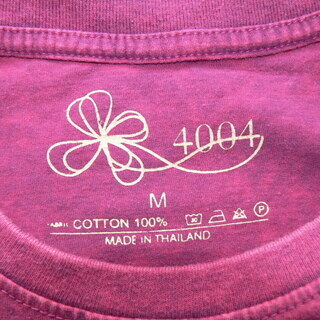 4004 スタンダード ストーンウォッシュ加工 UネックTシャツ Mサイズ - 札幌市