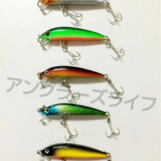 ■送料無料■小型ミノー 5.5cm 3.6g 5個セット 管釣り...