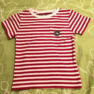 べべ スラップスリップ キッズ Tシャツ 100 赤白 ボーダー