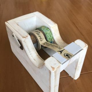 ハンドメイドのテープカッター