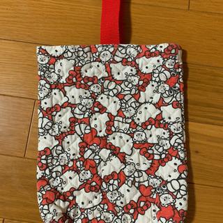 キティちゃん シューズ袋(ハンドメイド)