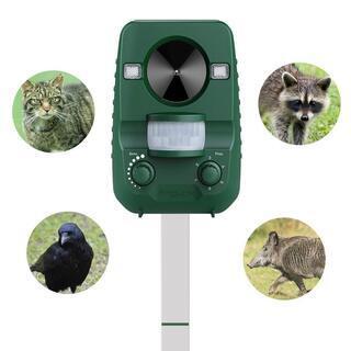 AngLink 猫よけ 動物撃退器 超音波 猫対策 赤外線センサ...