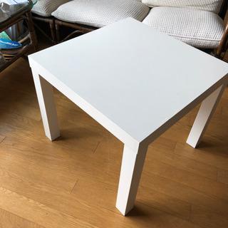 白サイドテーブル