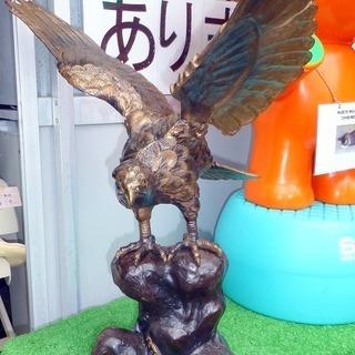 鷹の置物(鉄製)