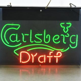 オシャレなネオン管 Carlsberg Draft カールスバー...