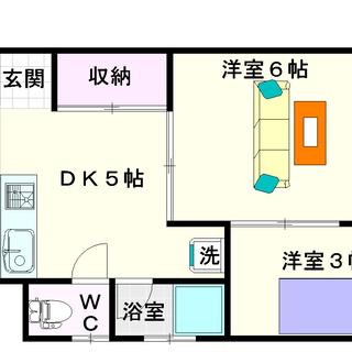 【銭辰ビル】1号タイプ!2DKタイプ!部屋がたくさん欲しい人!!