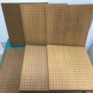 卓上碁盤 6枚セット 囲碁 厚さ3cm  骨董 アンティーク イ...
