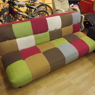 パッチワーク ソファベッド かわいい ソファー おしゃれ …