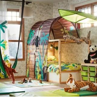【ラスト】【値下】IKEA KURA 美品 二段ベッド 専用スノ...