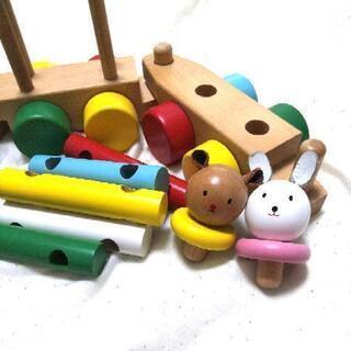 ★10/30迄値下げ中★ミキハウス 木のおもちゃ プルトーイ