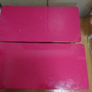 【0円無料】ローテーブル机 折り畳みテーブル2個【あげます】