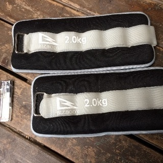 新品未使用☆リハビリ・トレーニング用ウエイト 手や足に巻きつけるタイプ2kgを二つセットで - 名古屋市