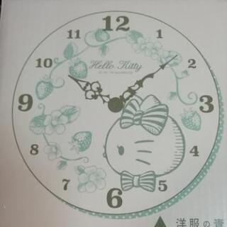 【新品】ハローキティ ピンクの掛け時計(洋服の青山非売品)