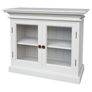 【新品】ガラス扉付きお洒落な北欧白家具サイドボード♬