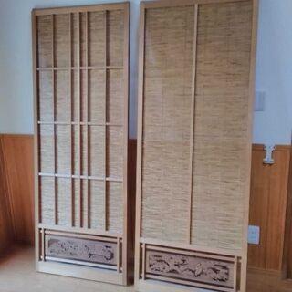 造作ランマ付建具(引戸)2枚セット