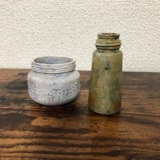 フランスの絵の具を使った DIY小ビン.瓶