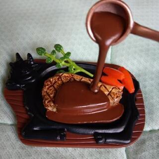 食べ物ミニチュア、ビーフステーキ