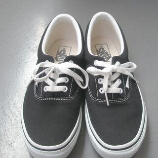 vansスニーカ(黒、25cm)
