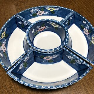 ★オードブル皿のセット・回転台付★未使用・自宅保管品