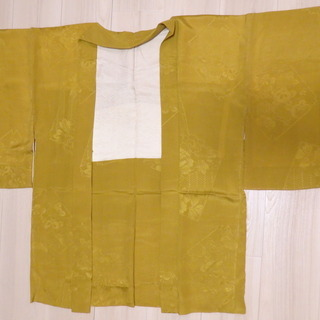 羽織 しつけ糸付き 緑みのしぶい黄色