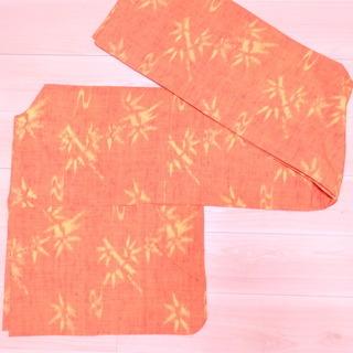 ウール オレンジ 笹 竹