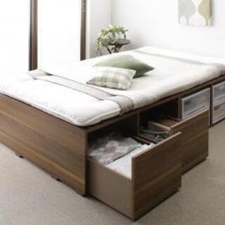 布団で寝られる大容量収納ベッド Semper センペール 薄型プレ...
