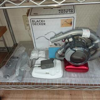 値下げ!保証】美品 充電式小型掃除機 ブラック&デッカー PD1...