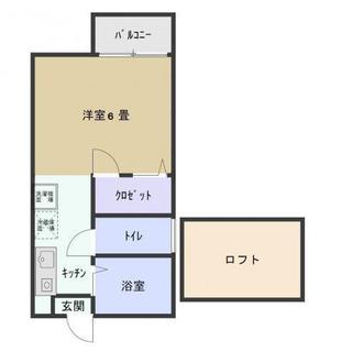 ☆船橋市☆カーサモンフォール102号室☆ロフト3帖付き☆フリーレン...