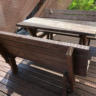 【ハンドメイド】ガーデンテーブル・チェア セット