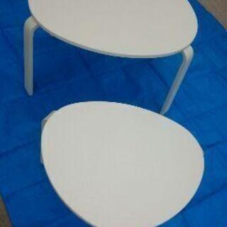 未使用!大幅値下げ!ローテーブル(白) 大、小 2台
