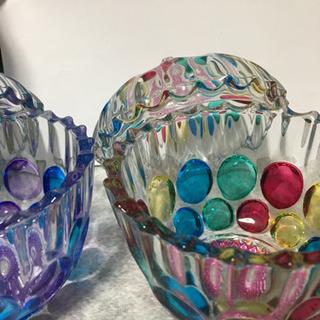 キリコガラス⁈ 綺麗な柄のガラス 器