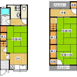あびこ駅徒歩5分 リフォーム済貸テラスハウス 5.4万円