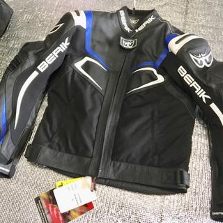 [BERIK]新品パンチングレザー/メッシュジャケット Lサイズ
