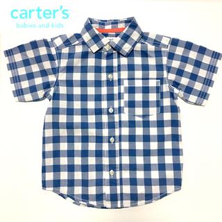 90 carter's(カーターズ)半袖チェックシャツ 男の子 ...