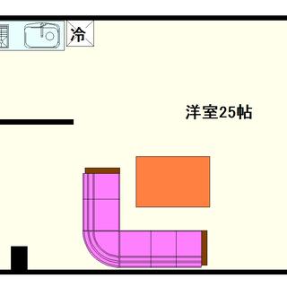 【難波リーガルハウス】5号タイプ!1Rタイプ!ビックリするほど広い...