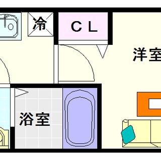 【プレサンス難波ヴィータ】4号タイプ!1Kタイプ!中心部に近すぎず...